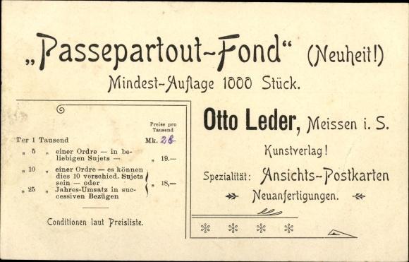 Passepartout Ak Meißen in Sachsen, Markt 1