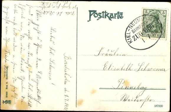 Ak Bordesholm Schleswig Holstein, Alte Linde, Gedicht 1
