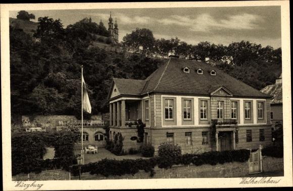 Ak Würzburg am Main Unterfranken, Walhallahaus 0