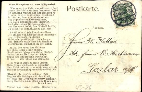 Ak Berlin Köpenick, Hauptmann von Köpenick, Der Köpenicker Handstreich 1