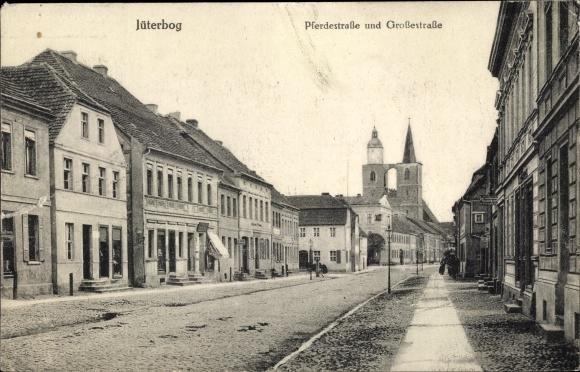 Ak Jüterbog in Brandenburg, Pferdestraße, Großestraße 0