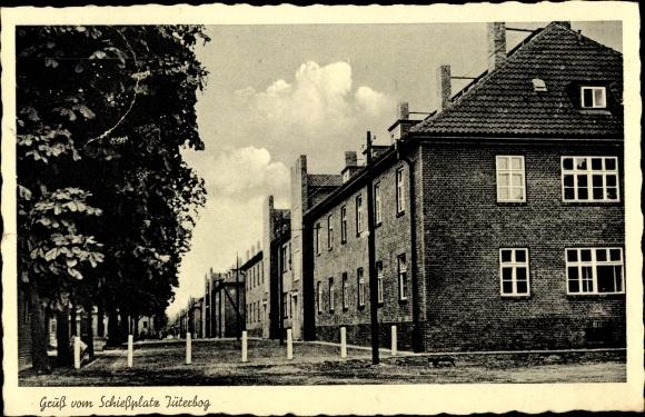 Ak Jüterbog in Brandenburg, Häuser auf dem Schießplatz 0