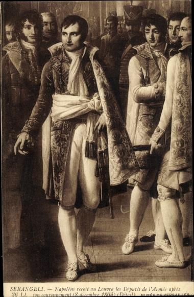 Künstler Ak Serangeli, Napoleon Bonaparte, Kaiser Napoleon I. 0