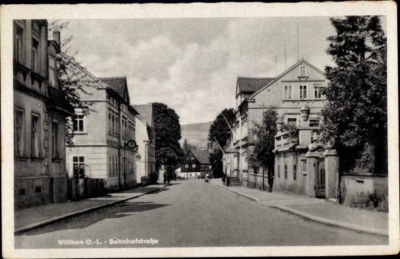 Ak Wilthen im Kreis Bautzen Sachsen, Bahnhofstraße 0