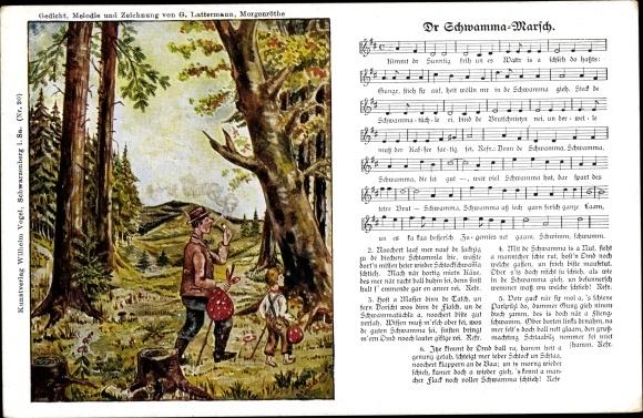Lied Ak Lattermann, G., Dr Schwamma Marsch, Erzgebirge, Wilhelm Vogel 0