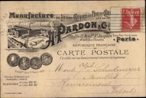 Ak Manufacture de Lits en Cuivre et Fer, H. Pardon et Cie, Paris