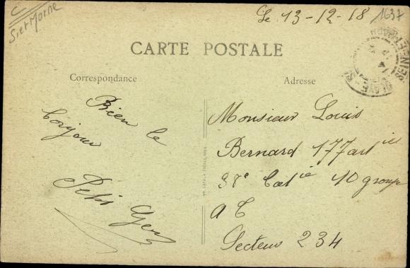 Ak Claye Souilly Seine et Marne, La Canal et Villa Belle Vue 1