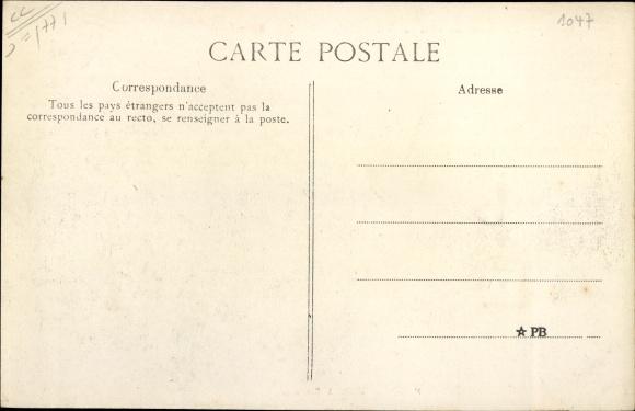 Ak Courquetaine Seine et Marne, Les fossés du Château 1