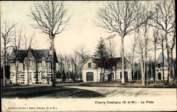 Ak Chevry Cossigny Seine et Marne, La Plata 0