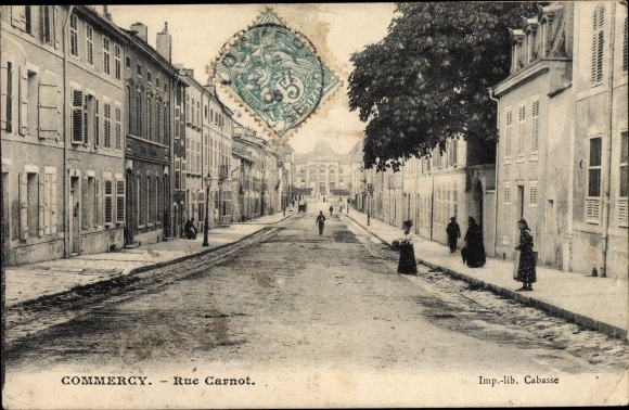 Ak Commercy Meuse, Rue Carnot 0