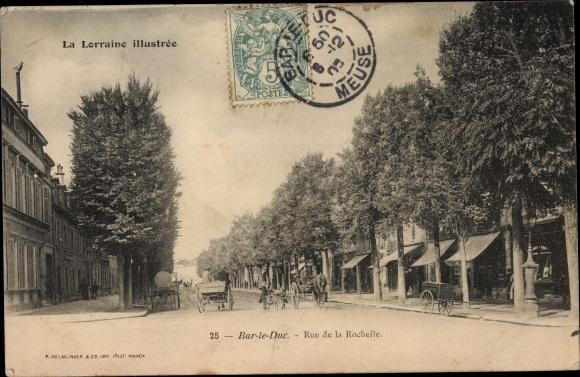 Ak Bar-le-Duc Meuse, Rue de la Rochelle 0