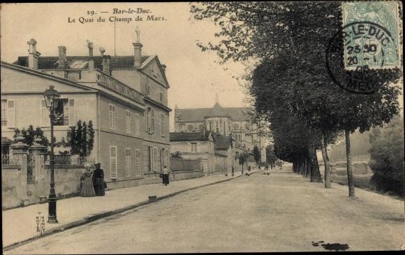 Ak Bar-le-Duc Meuse, Le Quai du Champ de Mars 0
