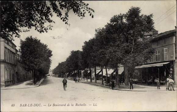 Ak Bar-le-Duc Meuse, Le Boulevard de la Rochelle 0