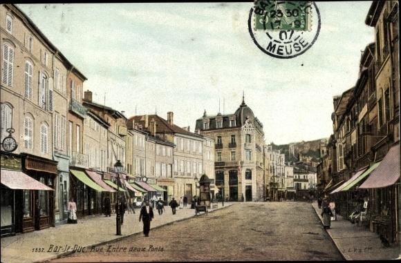 Ak Bar-le-Duc Meuse, Rue Entre deux Ponts 0