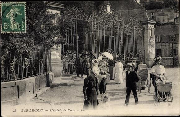 Ak Bar-le-Duc Meuse, L'Entree du Parc 0