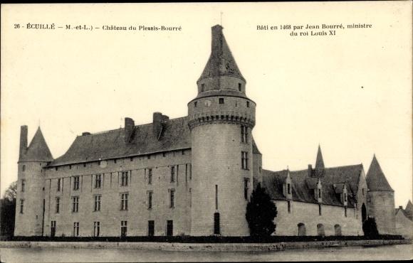 Ak Écuillé Maine et Loire, Chateau du Plessis-Bourre 0