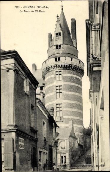 Ak Durtal Maine et Loire, La Tour de Chateau 0