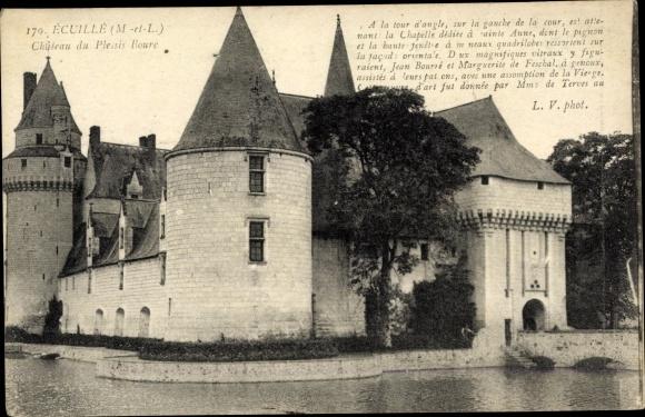 Ak Écuillé Maine et Loire, Chateau de Plessis-Bourre 0