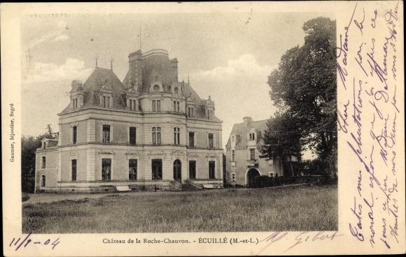 Ak Écuillé Maine et Loire, Chateau de la Roche-Chauvon 0
