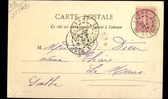 Ak Écuillé Maine et Loire, Chateau de la Roche-Chauvon 1