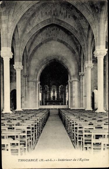 Ak Thouarcé Maine et Loire, Interieur de l'Eglise 0
