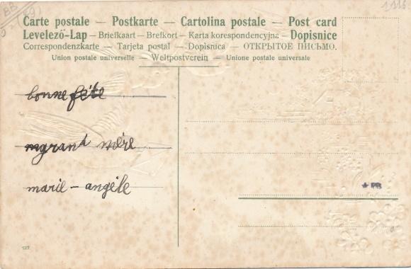 Glitzer Präge Ak Etriche Maine et Loire, Gage d'amitie, fleurs, oiseaux 1