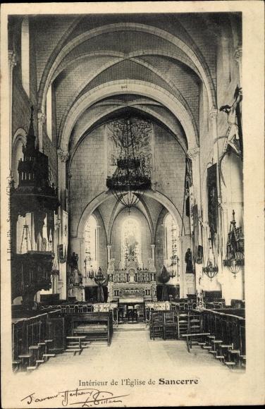 Ak Sancerre Cher, Interieur de L'Eglise 0