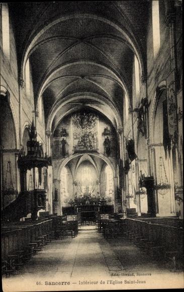 Ak Sancerre Cher, Interieur de l'Eglise Saint Jean 0
