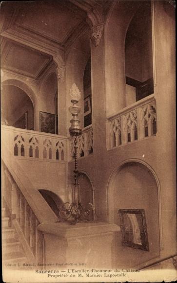 Ak Sancerre Cher, L'Escalier d'honneur du Chateau Propriete de M. Marnier Laspostolle 0