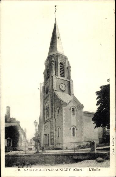 Ak Saint-Martin-d'Auxigny Cher, L'Eglise 0