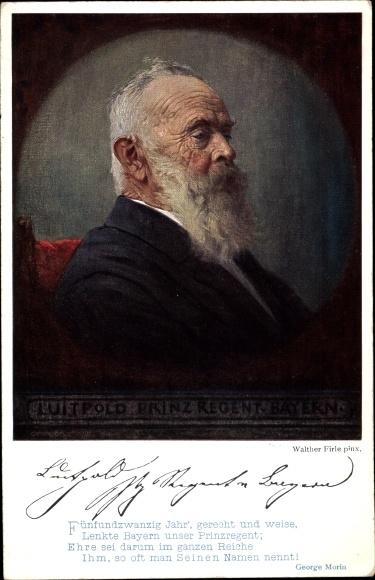 Künstler Ak Firle, Walther, Prinzregent Luitpold von Bayern, Portrait 0