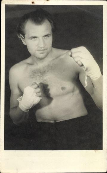 Foto Ak Boxer Hein ten Hoff, Portrait 0