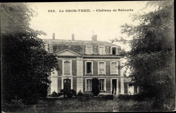 Ak Le Gros-Theil Eure, Chateau de Salverte 0