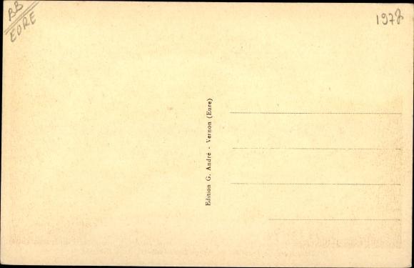 Ak Giverny Eure, Propriete du Maitre Claude Monet, Allee Centrale 1