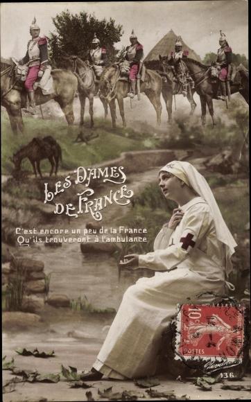 Ak Les Dames de France, Croix Rouge Francaise 0