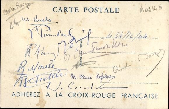 Künstler Ak Croix Rouge Francaise, La CRF Pense à Eux, Auto 1