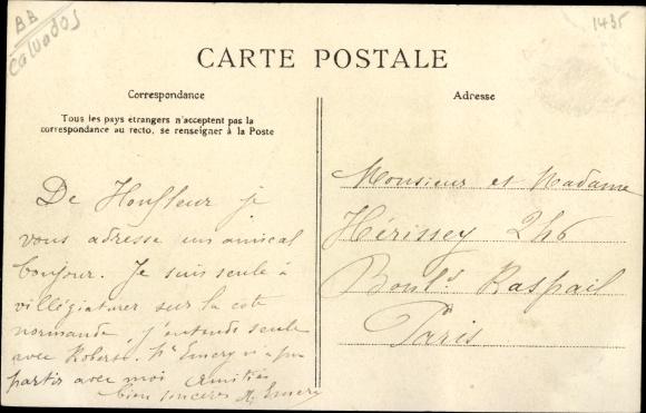 Ak Honfleur Calvados, Place Thiers 1