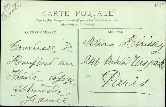 Ak Honfleur Calvados, Le Bouron, Segelboote 1