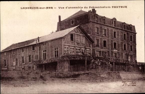 Ak Langrune sur Mer Calvados, Vue d'ensemble du Preventorium Pasteur 0