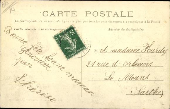 Ak Langrune sur Mer Calvados, Vue generale de la Plage 1