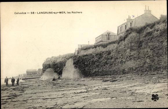 Ak Langrune sur Mer Calvados, les Rochers 0