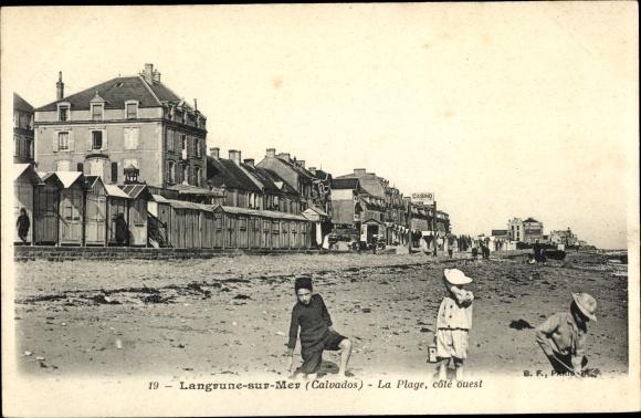 Ak Langrune sur Mer Calvados, La Plage 0