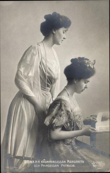Ak D. D. K. K. H. H. Kronprinsessan Margareta och Prinsessan Patricia 0