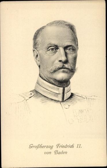 Künstler Ak Großherzog Friedrich II von Baden, Portrait 0