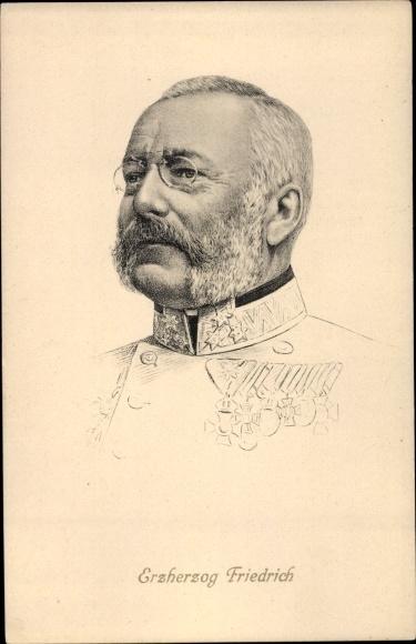 Künstler Ak Erzherzog Friedrich von Österreich Teschen, Portrait 0