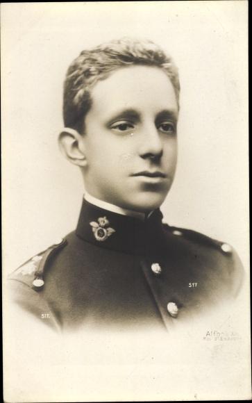 Ak König Alfons XIII. von Spanien, Portrait 0