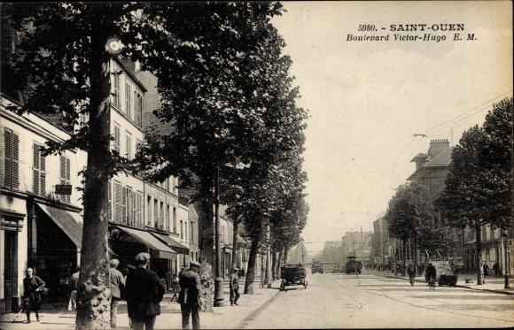 Ak Saint Ouen Seine Saint Denis, Boulevard Victor Hugo 0