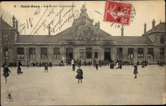 Ak Saint Ouen Seine Saint Denis, Les Ecoles Communales 0