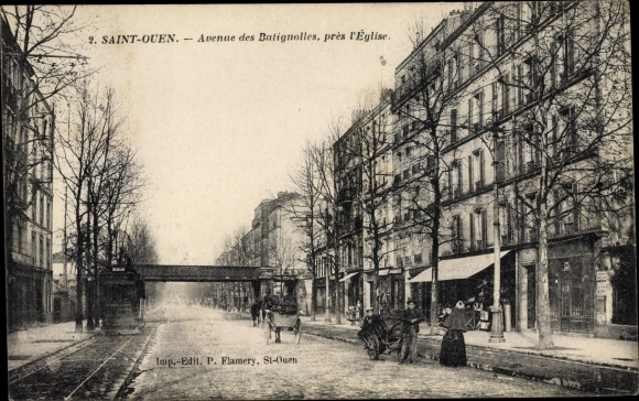 Ak Saint Ouen Seine Saint Denis, Avenue des Batignolles 0