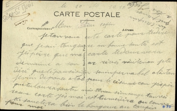 Ak Saint Ouen Seine Saint Denis, Avenue des Batignolles 1